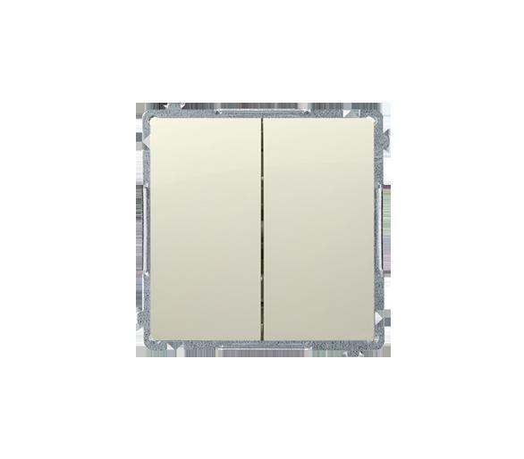 Przycisk podwójny zwierny bez piktogramu (moduł) 10AX 250V, szybkozłącza, beżowy BMP2.01/12