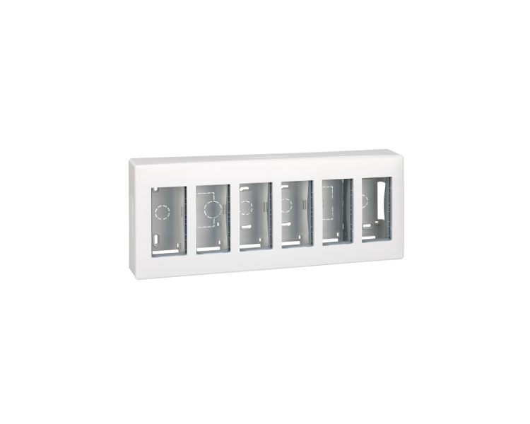 Obudowa natynkowa SIMON 500 6×S500 12×K45 czysta biel 51000006-030