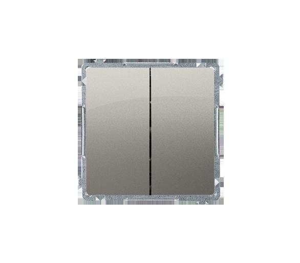 Przycisk podwójny zwierny bez piktogramu (moduł) 10AX 250V, szybkozłącza, satynowy, metalizowany BMP2.01/29