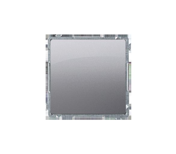 Przycisk pojedynczy zwierny bez piktogramu (moduł) 10AX 250V, szybkozłącza, inox, metalizowany BMP1.01/21