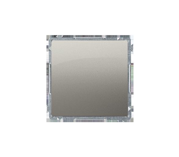Przycisk pojedynczy zwierny bez piktogramu (moduł) 10AX 250V, szybkozłącza, satynowy, metalizowany BMP1.01/29