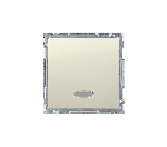Przycisk pojedynczy zwierny z podświetleniem LED nie wymienialny kolor: niebieski (moduł) 10AX 250V, szybkozłącza, beżowy BMP1L.
