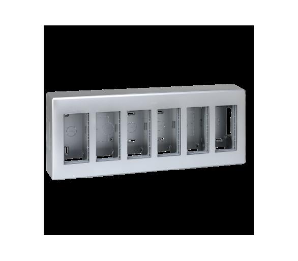 Obudowa natynkowa SIMON 500 6×S500 12×K45 aluminium 51000006-033