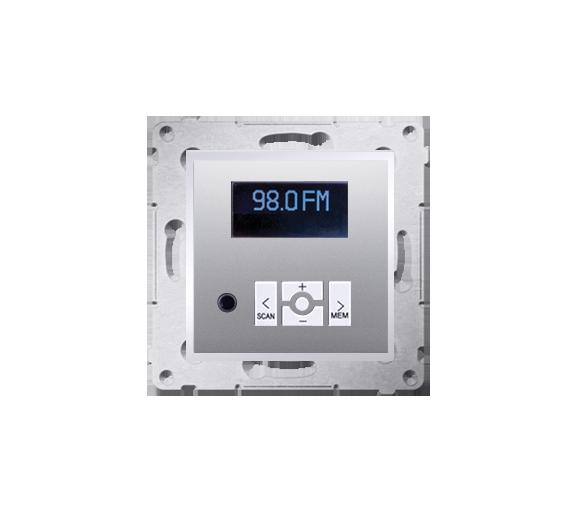 Radio cyfrowe z wyświetlaczem srebrny mat, metalizowany D75252.01/43