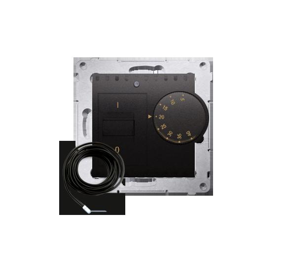 Regulator temperatury z czujnikiem zewnętrznym antracyt, metalizowany
