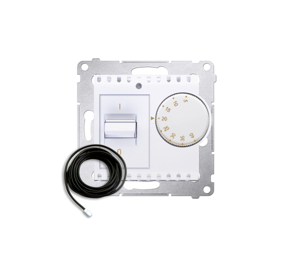 Regulator temperatury z czujnikiem zewnętrznym biały