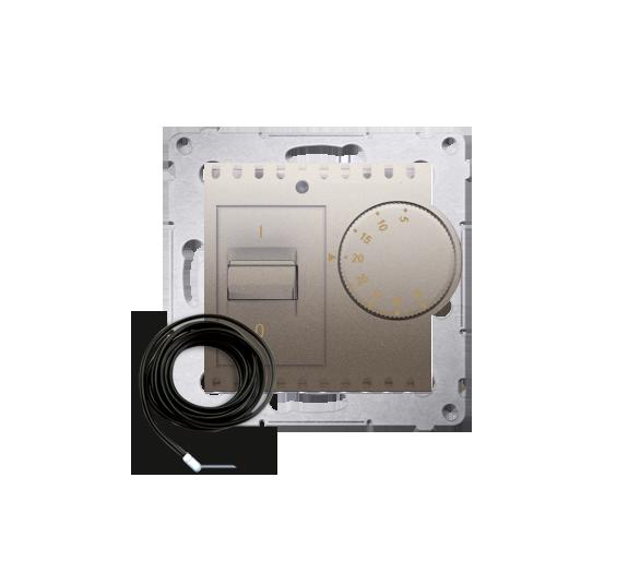 Regulator temperatury z czujnikiem zewnętrznym złoty mat, metalizowany