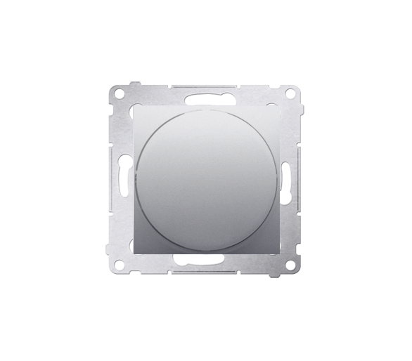 Sygnalizator świetlny LED - światło zielone srebrny mat, metalizowany DSS3.01/43