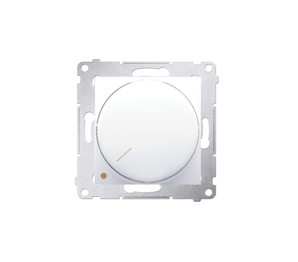 Ściemniacz do LED ściemnialnych, obrotowy, dwubiegunowy biały DS9L2.01/11