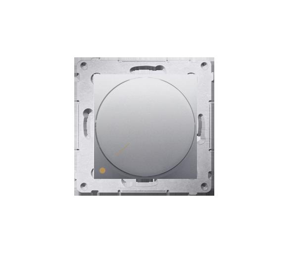 Ściemniacz do LED ściemnialnych, obrotowy, dwubiegunowy srebrny mat, metalizowany DS9L2.01/43