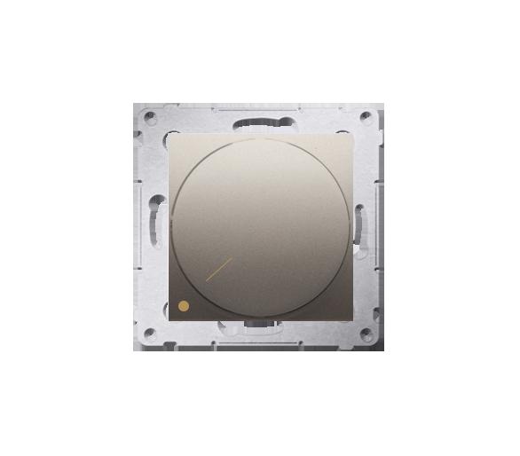Ściemniacz do LED ściemnialnych, obrotowy, dwubiegunowy złoty mat, metalizowany DS9L2.01/44