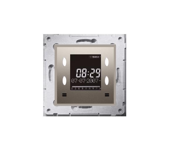 WYCOFANY Z OFERTY Zegar elektroniczny z wyświetlaczem złoty mat, metalizowany D75815.01/44