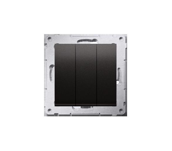 Przycisk potrójny (moduł) 10AX 250V, szybkozłącza, antracyt DP31.01/48