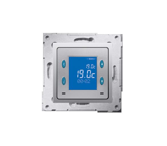 Regulator temperatury z wyświetlaczem (czujnik wewnętrzny) srebrny mat, metalizowany D75816.01/43