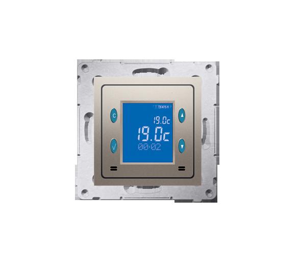 Regulator temperatury z wyświetlaczem (czujnik wewnętrzny) złoty mat, metalizowany D75816.01/44