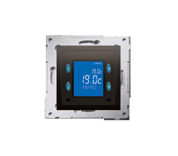 Regulator temperatury z wyświetlaczem (czujnik wewnętrzny) brąz mat, metalizowany D75816.01/46