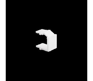 Zaślepka otworu wtyku RJ45/RJ12  pokrywy gniazda teleinformatycznego biały BWB/11
