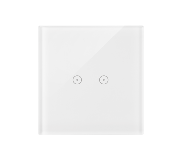 Panel dotykowy 1 moduł 2 pola dotykowe poziome, biała perła DSTR12/70