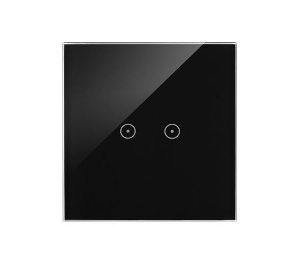 Panel dotykowy 1 moduł 2 pola dotykowe poziome, zastygła lawa DSTR12/73