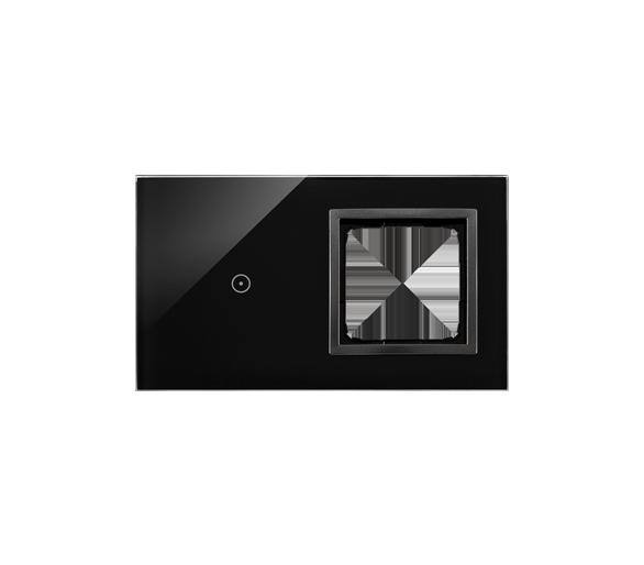 Panel dotykowy 2 moduły 1 pole dotykowe, otwór na osprzęt Simon 54, zastygła lawa DSTR210/73