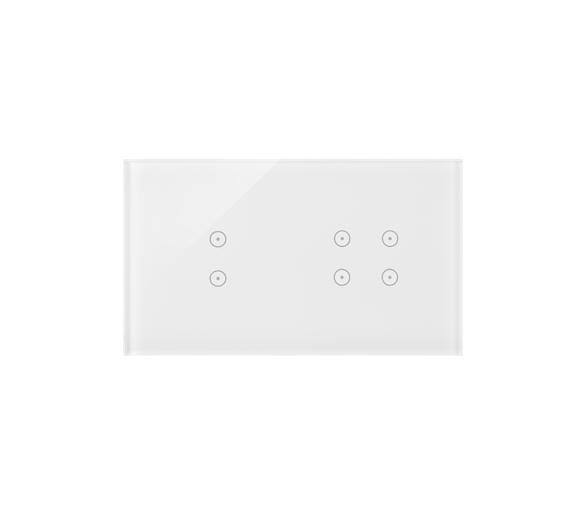 Panel dotykowy 2 moduły 2 pola dotykowe pionowe, 4 pola dotykowe, biała perła DSTR234/70