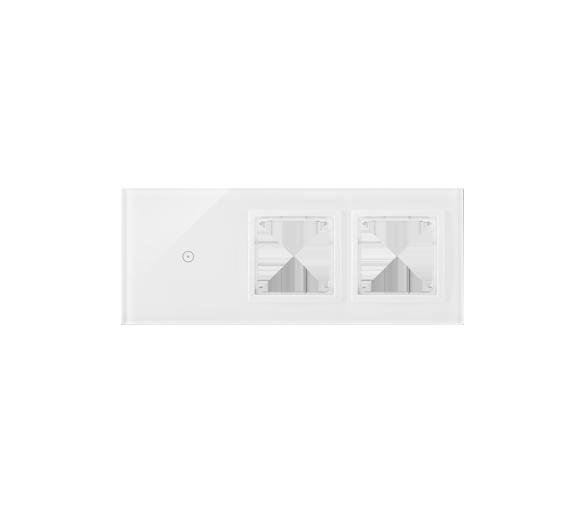 Panel dotykowy 3 moduły 1 pole dotykowe, otwór na osprzęt Simon 54, otwór na osprzęt Simon 54, biała perła DSTR3100/70