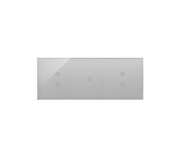Panel dotykowy 3 moduły 2 pola dotykowe pionowe, 1 pole dotykowe, 2 pola dotykowe pionowe, srebrna mgła DSTR3313/71