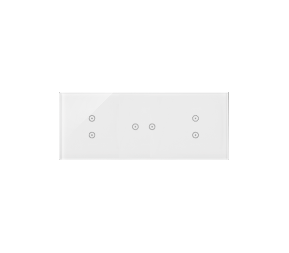 Panel dotykowy 3 moduły 2 pola dotykowe pionowe, 2 pola dotykowe poziome, 2 pola dotykowe pionowe, biała perła DSTR3323/70
