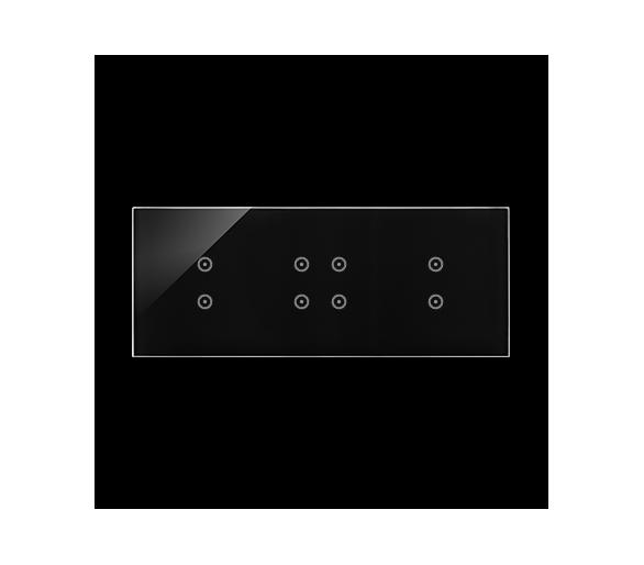 Panel dotykowy 3 moduły 2 pola dotykowe pionowe, 4 pola dotykowe, 2 pola dotykowe pionowe, zastygła lawa DSTR3343/73