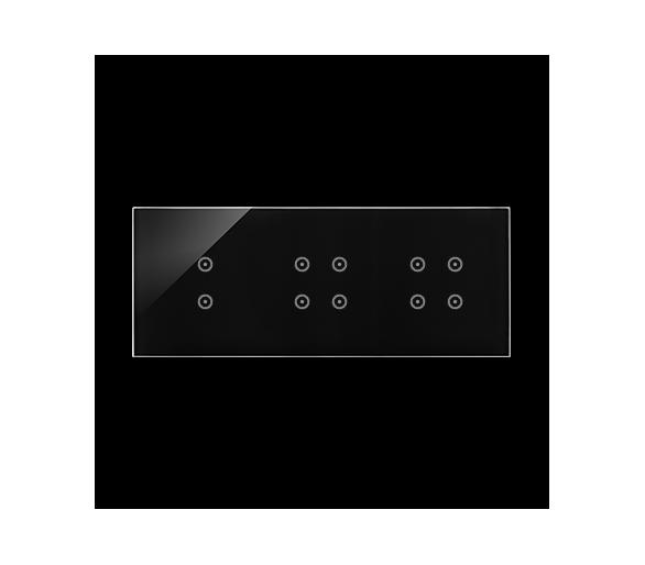 Panel dotykowy 3 moduły 2 pola dotykowe pionowe, 4 pola dotykowe, 4 pola dotykowe, zastygła lawa DSTR3344/73