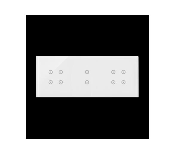 Panel dotykowy 3 moduły 4 pola dotykowe, 2 pola dotykowe pionowe, 4 pola dotykowe, biała perła DSTR3434/70