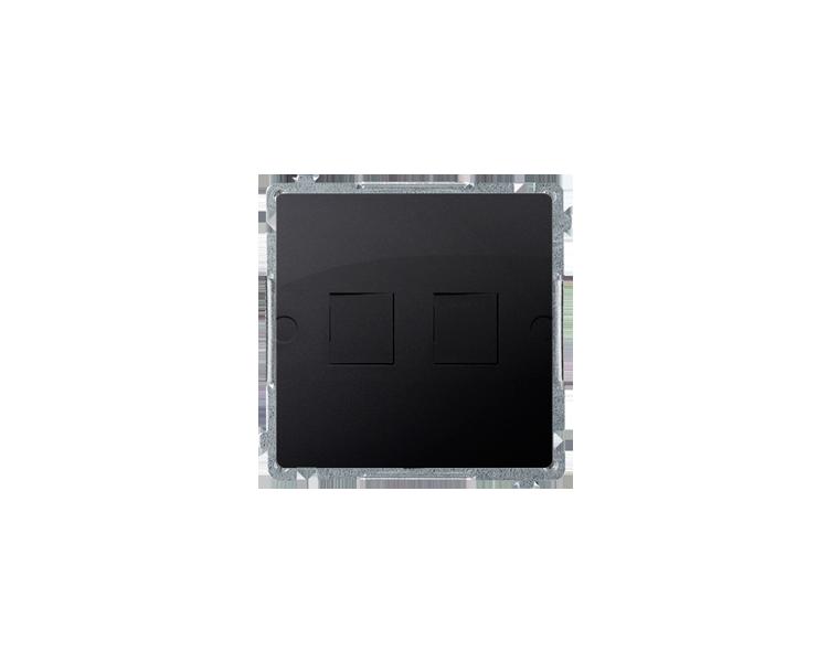 Pokrywa gniazd teleinformatycznych na Keystone płaska podwójna grafit mat, metalizowany BMPT/28