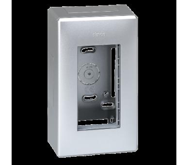 Obudowa natynkowa SIMON 500 1×S500 2×K45 aluminium 51000001-033