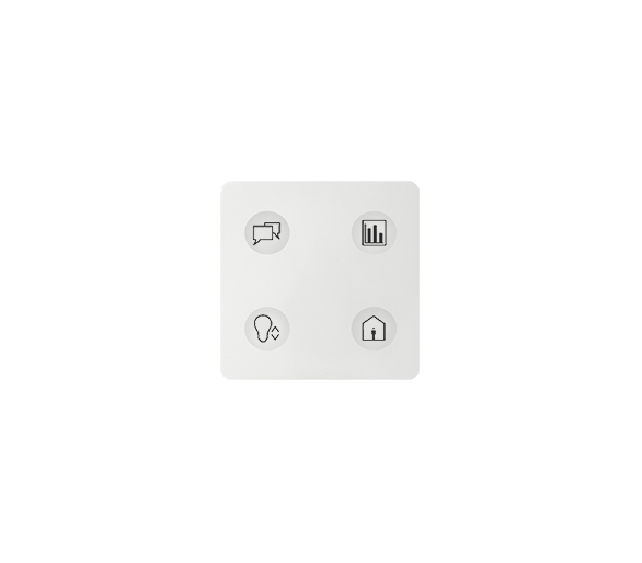Klawiatura Sense biały Ikony:Custom T2 8000644-030