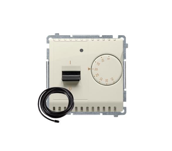 Regulator temperatury z wyświetlaczem z czujnikiem zewnętrzym (sonda) beżowy BMRT10ZS.02/12