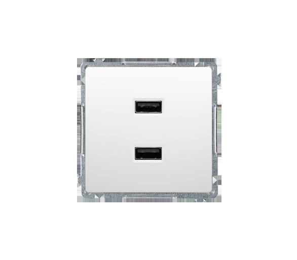 Ładowarka USB podwójna biały BMC2USB.01/11