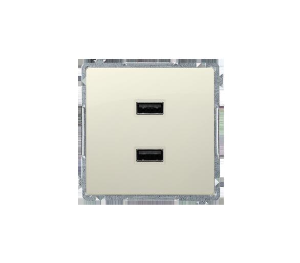 Ładowarka USB podwójna beżowy BMC2USB.01/12
