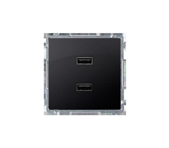 Ładowarka USB podwójna grafit mat, metalizowany BMC2USB.01/28