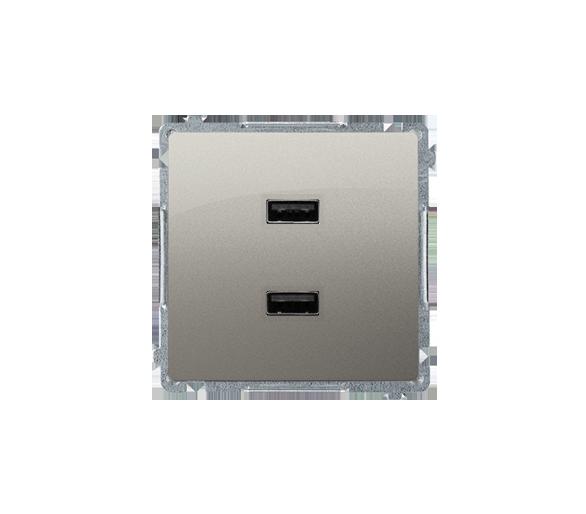 Ładowarka USB podwójna satynowy, metalizowany BMC2USB.01/29