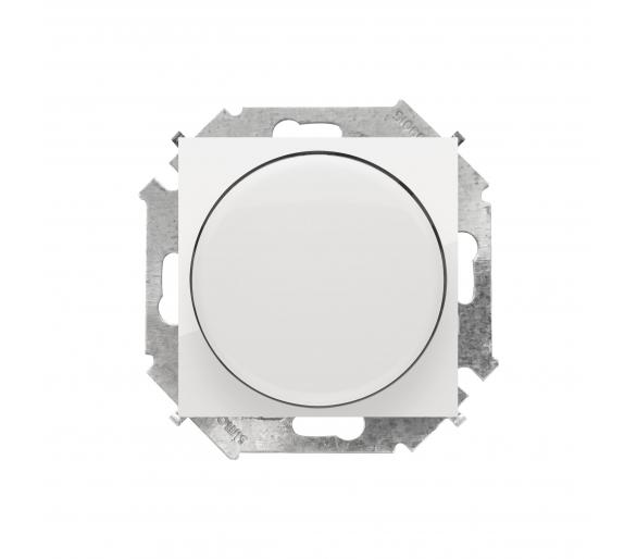 Ściemniacz do LED ściemnialnych, naciskowo-obrotowy, jednobiegunowy biały W układzie schodowym:Tak 1591791-030