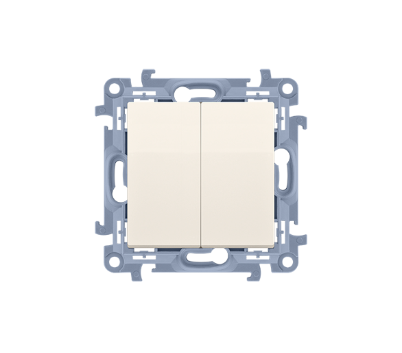 Łącznik schodowy podwójny kremowy 10AX CW8/2.01/41