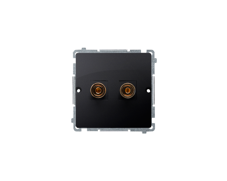 Gniazdo głośnikowe pojedyncze grafit mat, metalizowany BMGL2.02/28