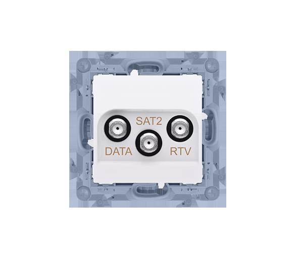Gniazdo antenowe RTV-DATA-SAT tłum.:1,5dB biały CADSATF.01/11