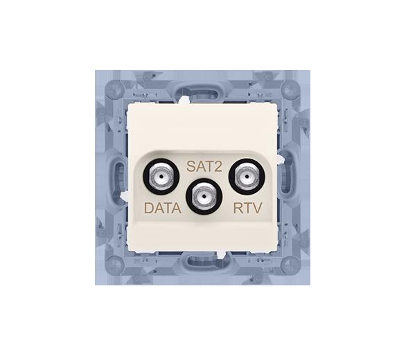 Gniazdo antenowe RTV-DATA-SAT tłum.:1,5dB kremowy CADSATF.01/41