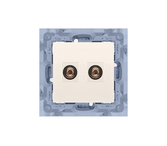 Gniazdo głośnikowe pojedyncze kremowy CGL2.01/41