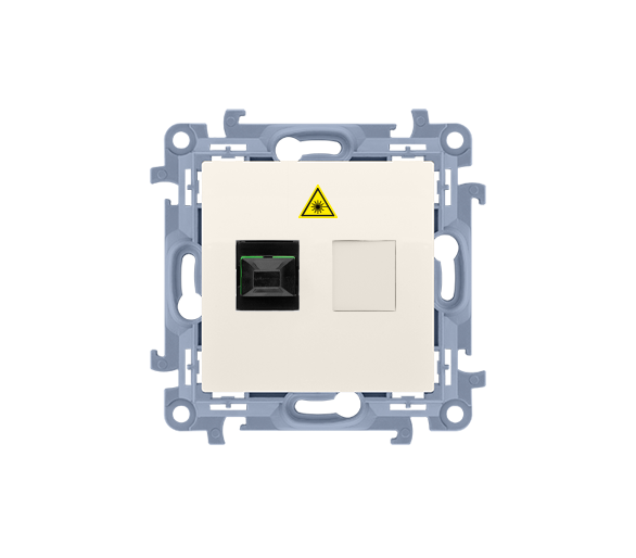 Gniazdo światłowodowe / optyczne pojedyncze kremowy CGS1.01/41