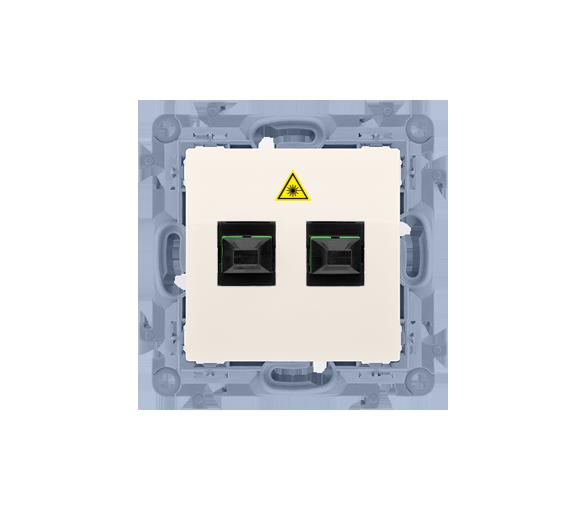 Gniazdo światłowodowe / optyczne podwójne kremowy CGS2.01/41
