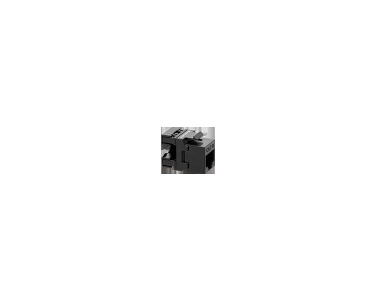 Wkład gniazda komputerowego RJ45 kat.5e, nieekranowany (UTP) czarny FCRJ455E
