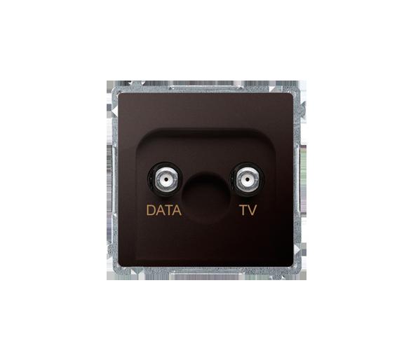 Gniazdo antenowe TV-DATA tłum.:5dB czekoladowy mat, metalizowany BMAD1.01/47