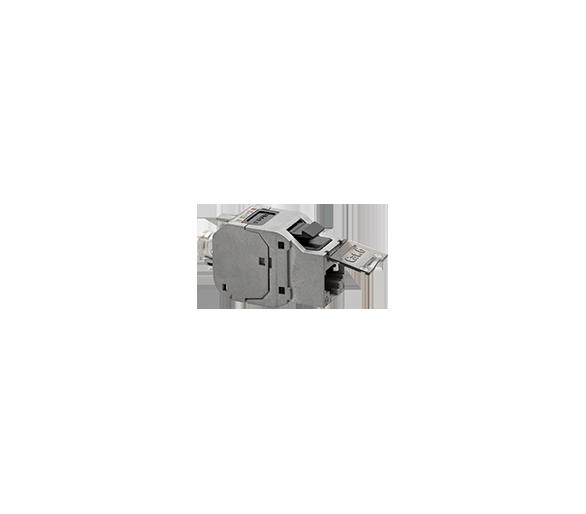 Wkład gniazda komputerowego RJ45 kat.6, ekranowany (FTP) stal nierdzewna FBRJ456EKR